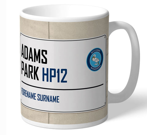 Personalised Wycombe Mug - Street Sign - Official Merchandise Gifts