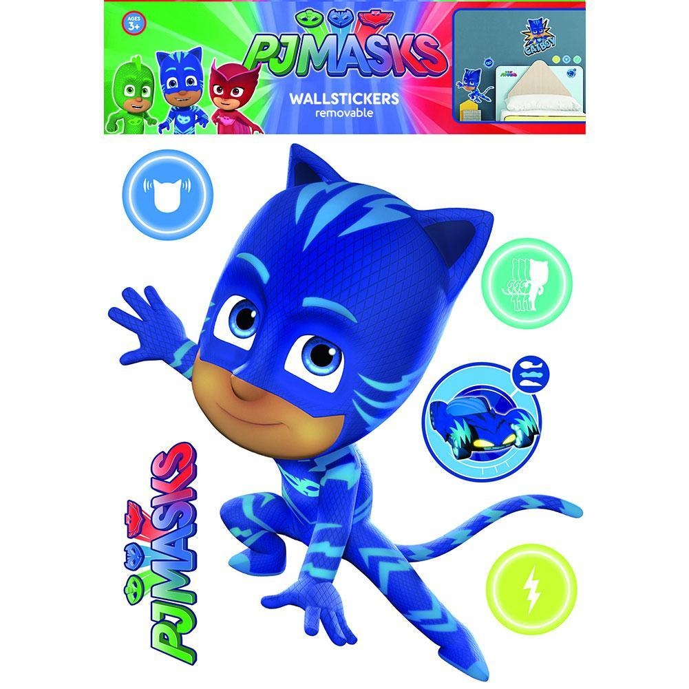 PJ Masks Wall Sticker A3 Catboy, Art & Crafting Materials by Glamorous Gifts UK