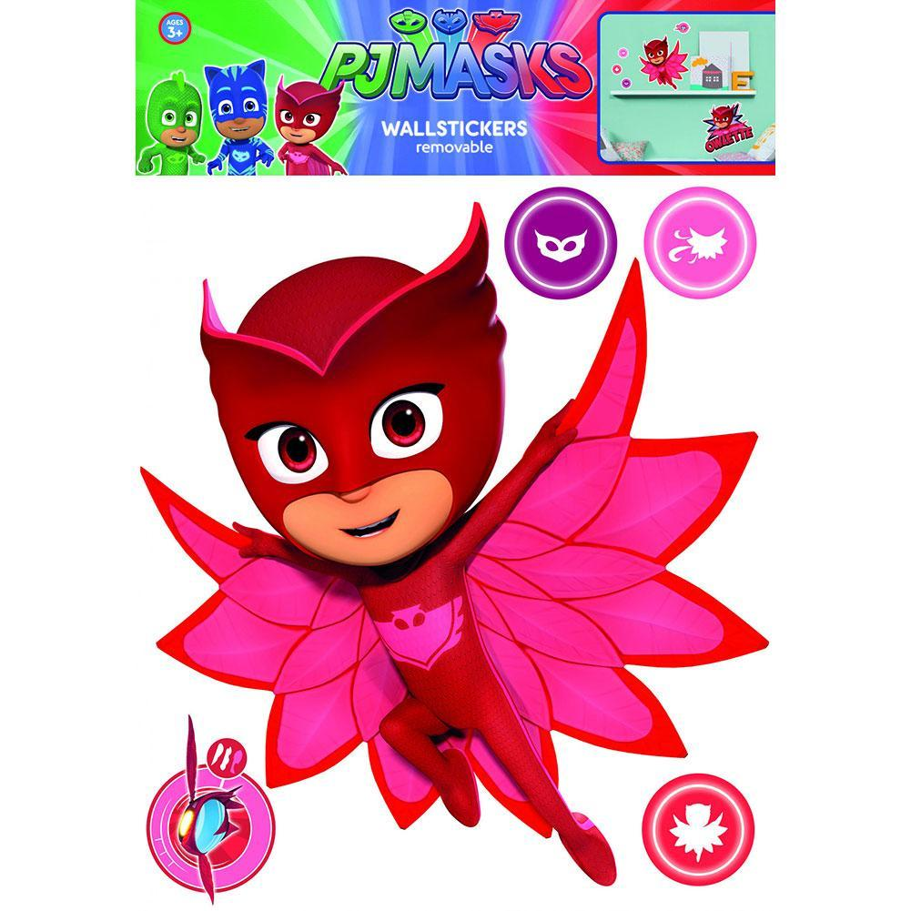 PJ Masks Wall Sticker A3 Owlette, Art & Crafting Materials by Glamorous Gifts UK