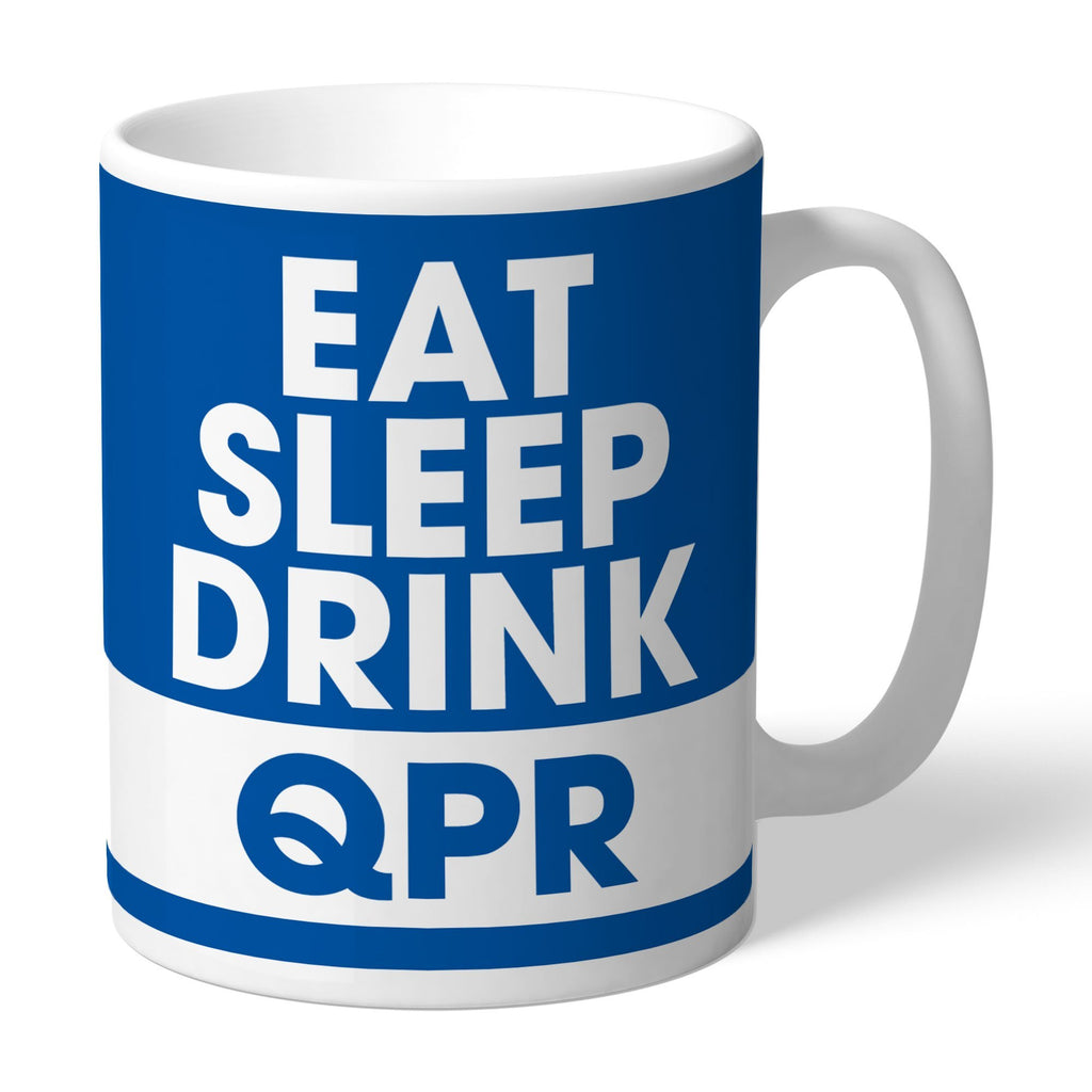 Queens Park Rangers FC Eat Sleep Drink Mug - Official Merchandise Gifts