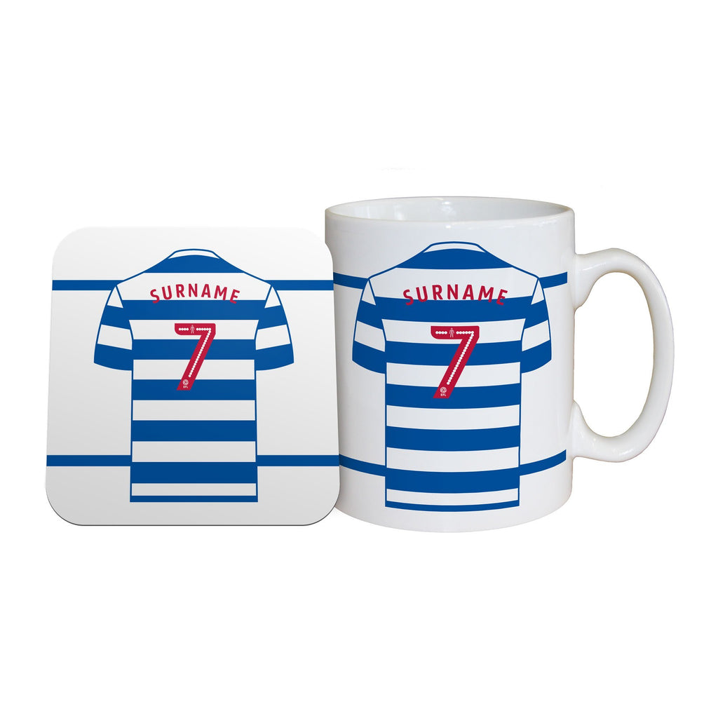 Queens Park Rangers FC Shirt Mug & Coaster Set - Official Merchandise Gifts