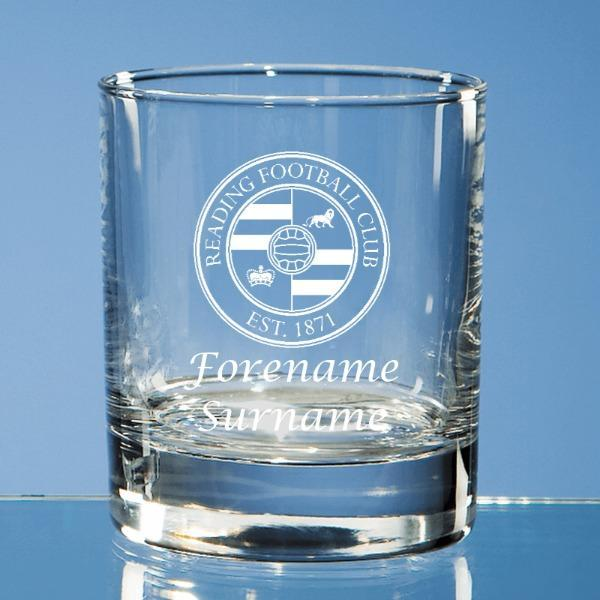 Reading FC Crest Bar Line Old Fashioned Whisky Tumbler - Official Merchandise Gifts