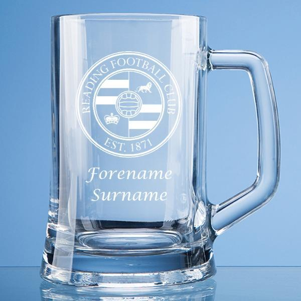 Reading FC Crest Large Plain Straight Sided Tankard - Official Merchandise Gifts