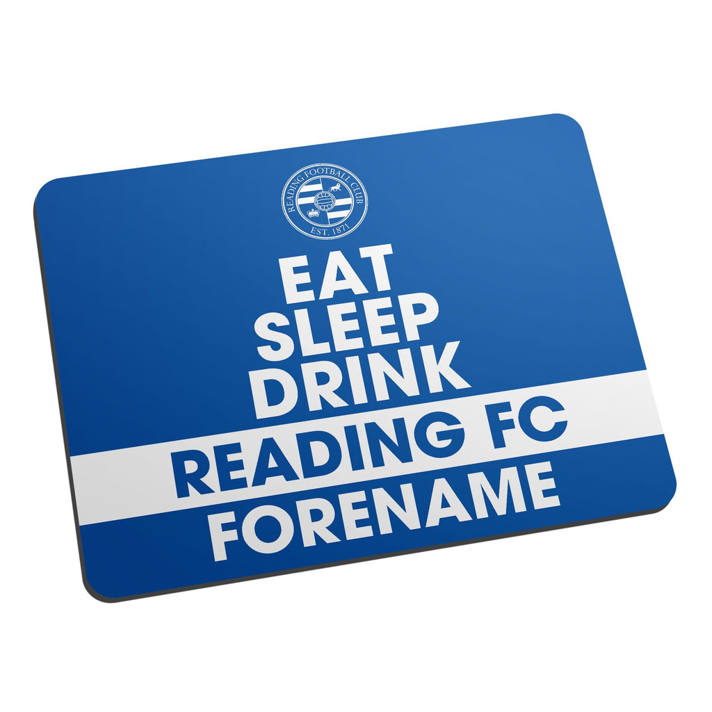 Reading FC Eat Sleep Drink Mouse Mat - Official Merchandise Gifts