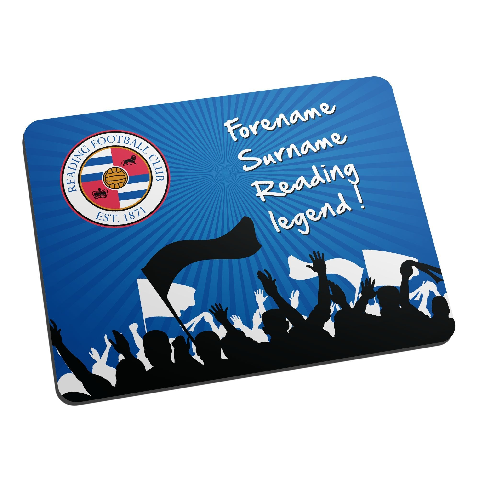 Personalised Reading FC Legend Mouse Mat, Electronics by Glamorous Gifts