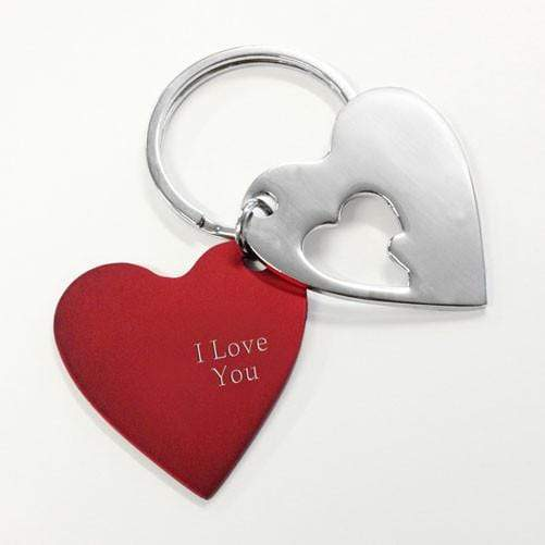 Red Heart Cut-away Keyring - Official Merchandise Gifts