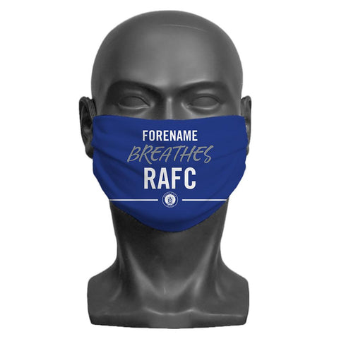 Rochdale AFC Breathes Personalised Face Mask - Official Merchandise Gifts