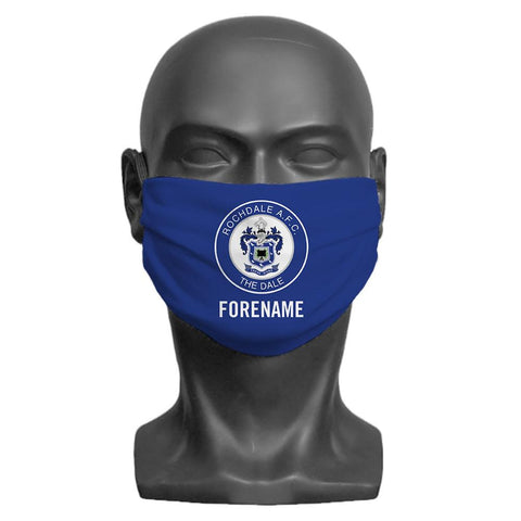Rochdale AFC Crest Personalised Face Mask - Official Merchandise Gifts