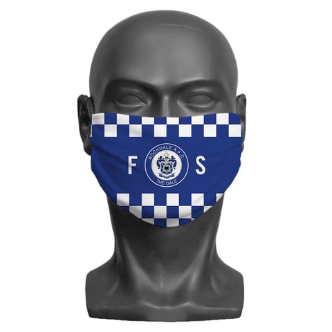 Rochdale AFC Initials Personalised Face Mask - Official Merchandise Gifts