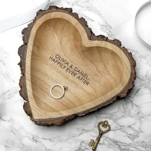 Rustic Carved Wooden Heart Dish - Official Merchandise Gifts