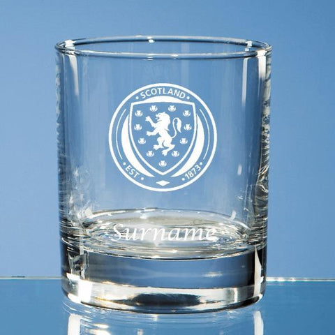 Scotland Crest Bar Line Old Fashioned Whisky Tumbler - Official Merchandise Gifts