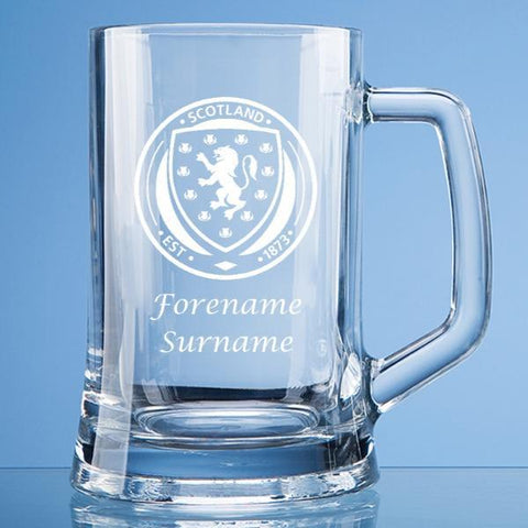 Scotland Crest Large Plain Straight Sided Tankard - Official Merchandise Gifts