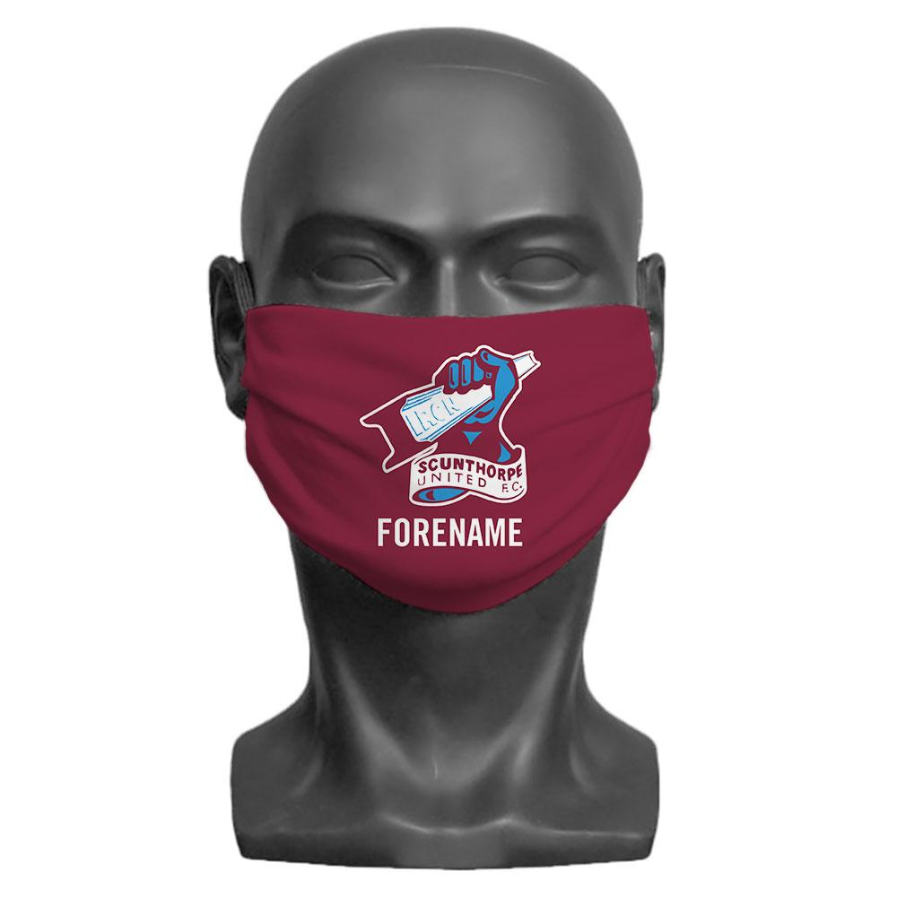 Scunthorpe United FC Crest Personalised Face Mask, Clothing & Accessories by Glamorous Gifts