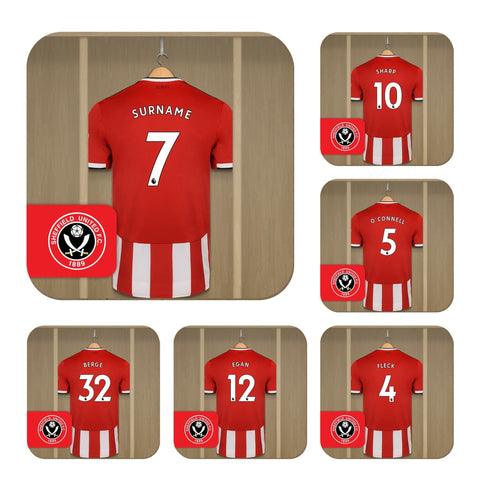 Sheffield United FC Dressing Room Coasters - Official Merchandise Gifts
