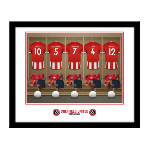 Sheffield United FC Dressing Room Framed Print - Official Merchandise Gifts