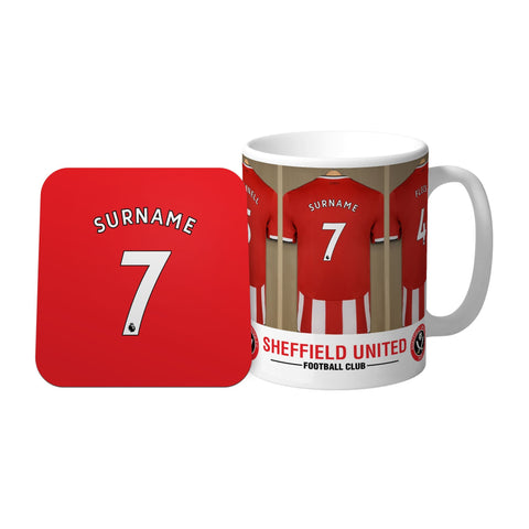 Sheffield United FC Dressing Room Mug & Coaster Set - Official Merchandise Gifts