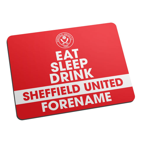 Sheffield United FC Eat Sleep Drink Mouse Mat - Official Merchandise Gifts