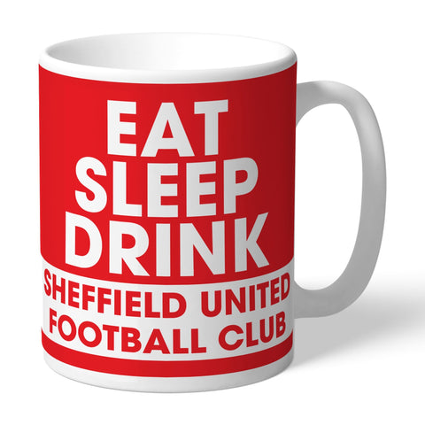 Sheffield United FC Eat Sleep Drink Mug - Official Merchandise Gifts