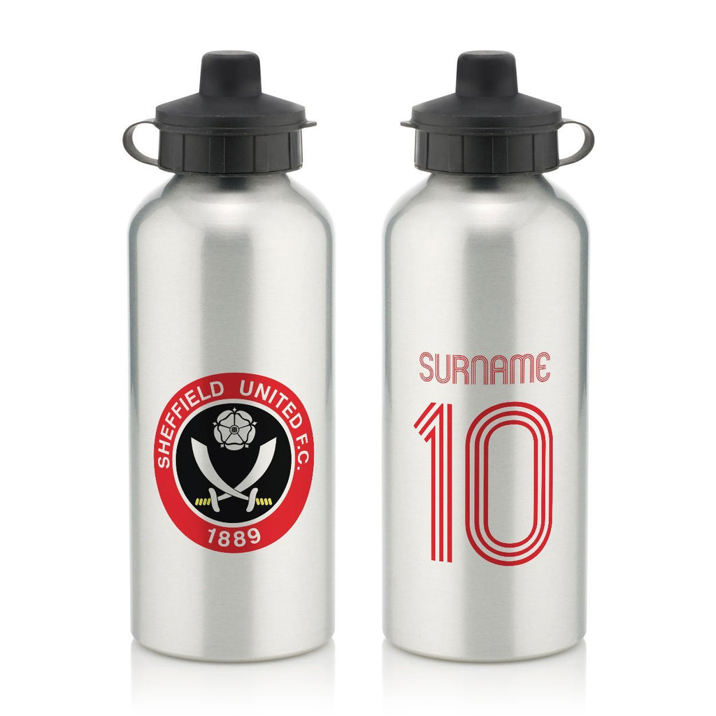 Sheffield United FC Retro Shirt Water Bottle - Official Merchandise Gifts