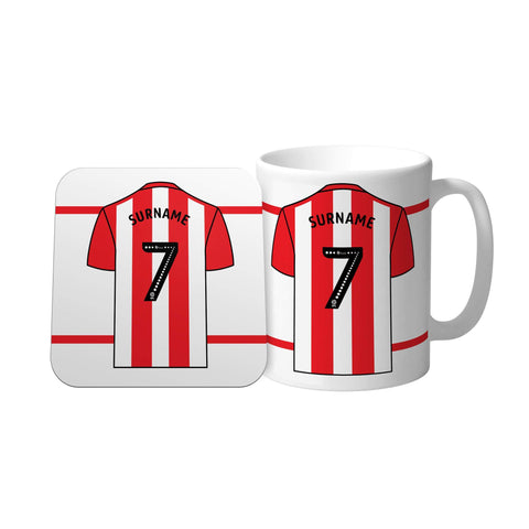 Sheffield United FC Shirt Mug & Coaster Set - Official Merchandise Gifts