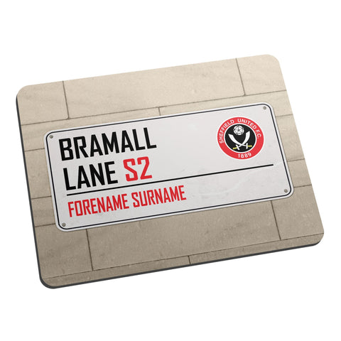 Sheffield United FC Street Sign Mouse Mat - Official Merchandise Gifts