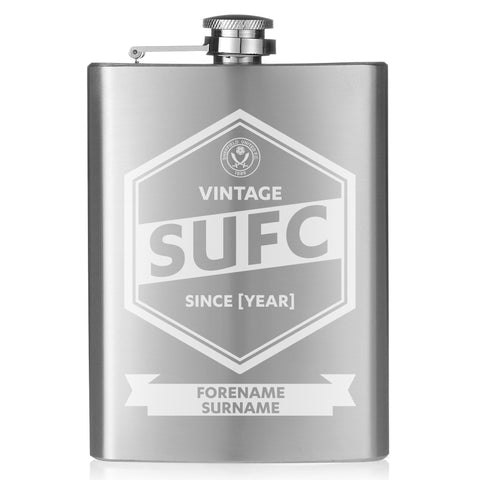 Sheffield United FC Vintage Hip Flask - Official Merchandise Gifts