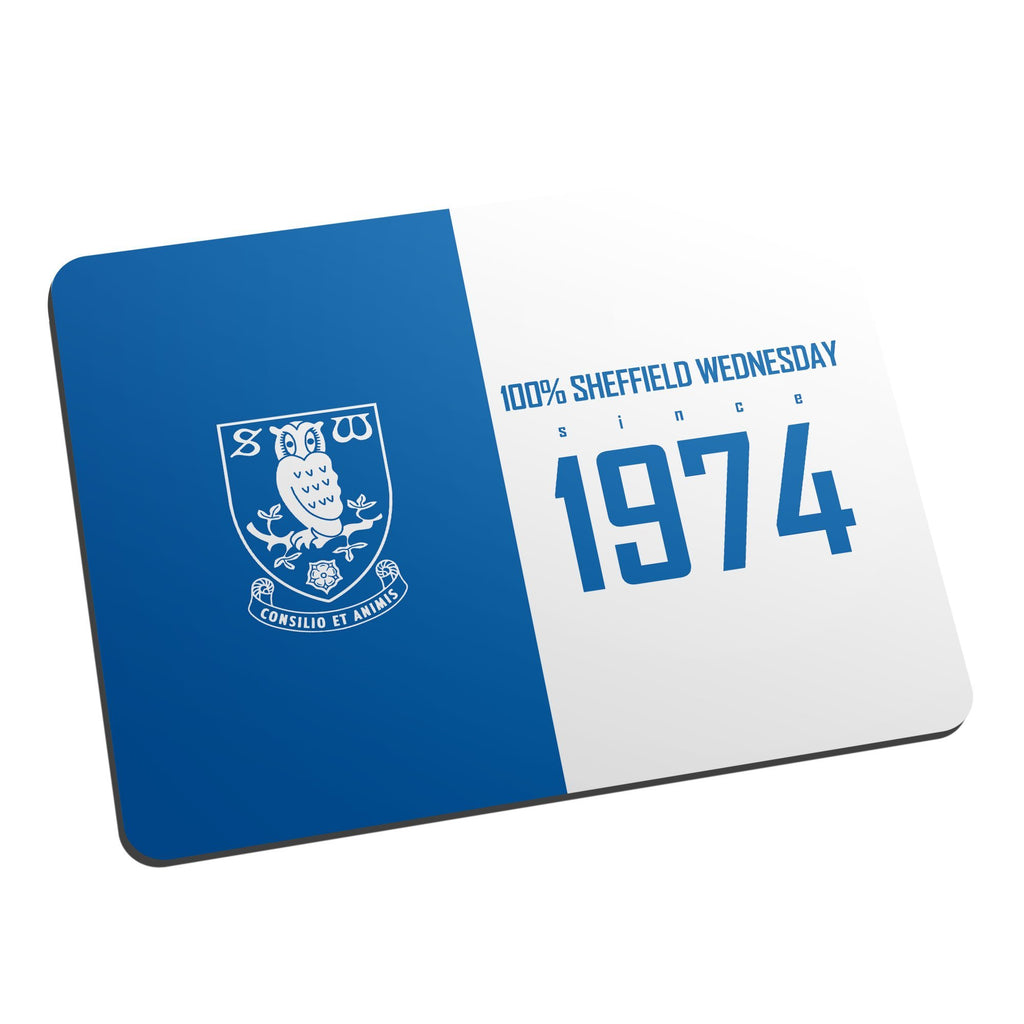 Sheffield Wednesday FC 100 Percent Mouse Mat - Official Merchandise Gifts