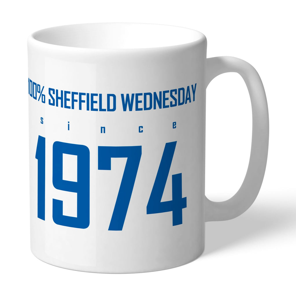Sheffield Wednesday FC 100 Percent Mug - Official Merchandise Gifts