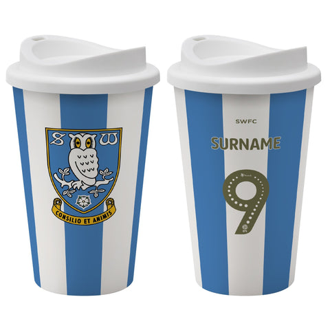 Sheffield Wednesday FC Back of Shirt Reusable Cup - Official Merchandise Gifts