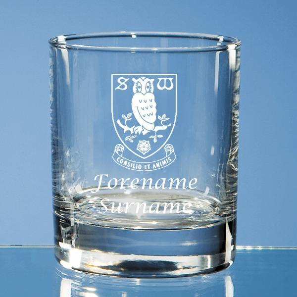 Sheffield Wednesday FC Crest Old Fashioned Whisky Tumbler - Official Merchandise Gifts