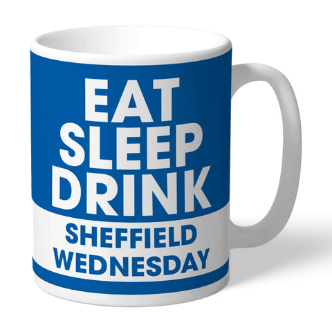 Sheffield Wednesday FC Eat Sleep Drink Mug - Official Merchandise Gifts