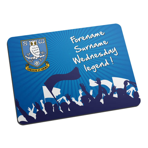 Sheffield Wednesday FC Legend Mouse Mat - Official Merchandise Gifts