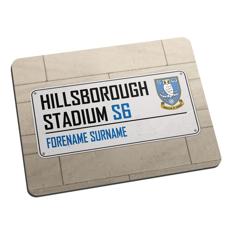 Sheffield Wednesday FC Street Sign Mouse Mat - Official Merchandise Gifts