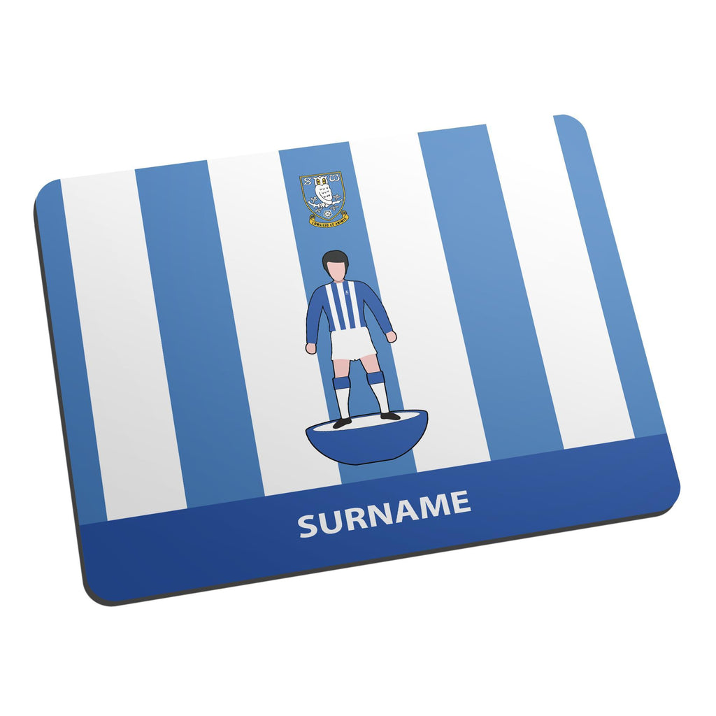 Sheffield Wednesday Player Figure Mouse Mat - Official Merchandise Gifts