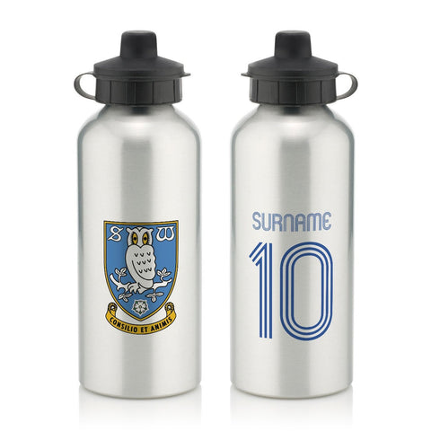 Sheffield Wednesday Retro Shirt Water Bottle - Official Merchandise Gifts
