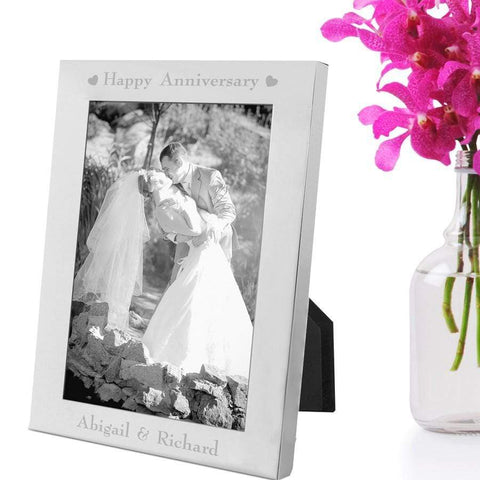 Silver Plated Happy Anniversary Photo Frame - Official Merchandise Gifts