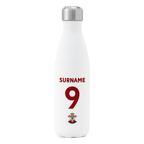 Southampton FC Back of Shirt Insulated Water Bottle - White - Official Merchandise Gifts