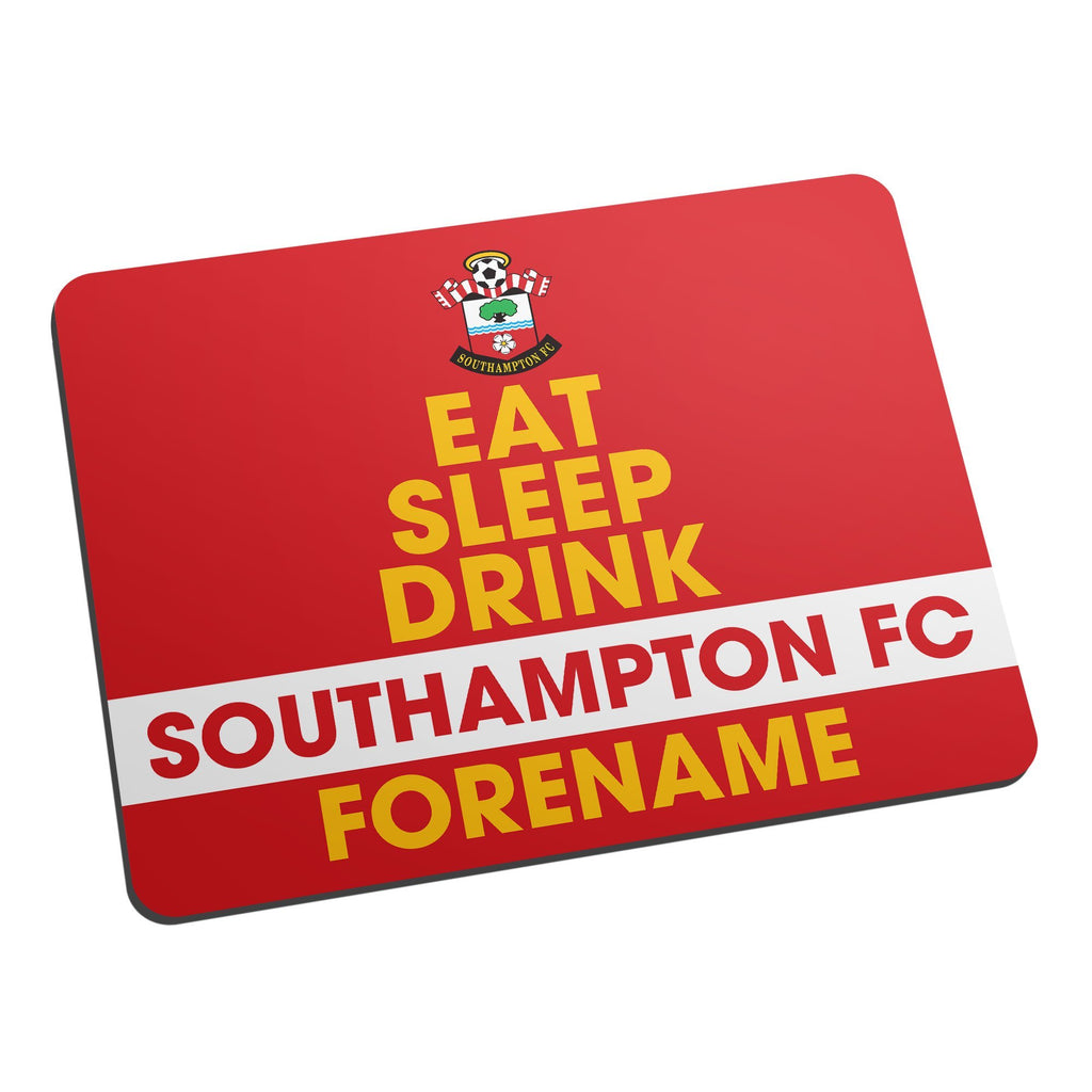 Southampton FC Eat Sleep Drink Mouse Mat - Official Merchandise Gifts