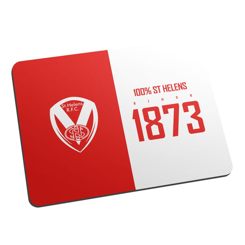St Helens 100 Percent Mouse Mat - Official Merchandise Gifts