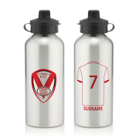 St Helens Aluminium Water Bottle - Official Merchandise Gifts