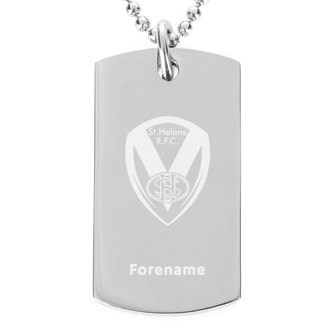 St Helens Crest Dog Tag Pendant - Official Merchandise Gifts