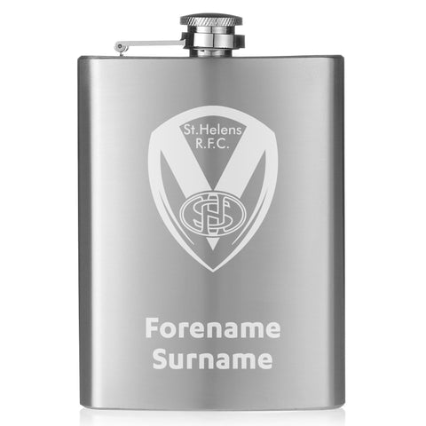 St Helens Crest Hip Flask - Official Merchandise Gifts