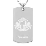 Sunderland AFC Crest Dog Tag Pendant - Official Merchandise Gifts