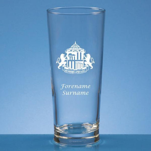 Sunderland AFC Crest Straight Sided Beer Glass - Official Merchandise Gifts