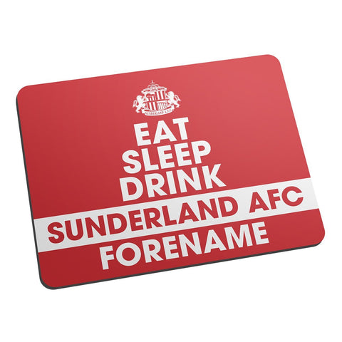 Sunderland AFC Eat Sleep Drink Mouse Mat - Official Merchandise Gifts