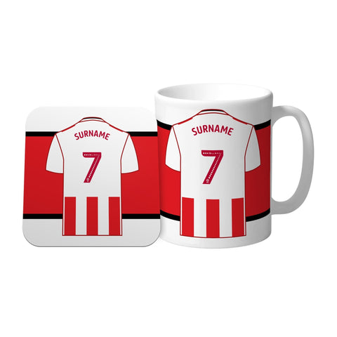 Sunderland AFC Shirt Mug & Coaster Set - Official Merchandise Gifts