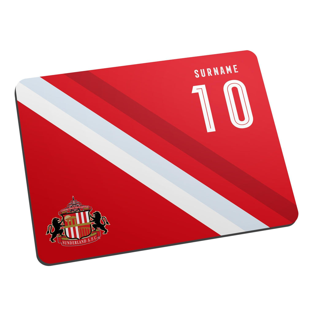 Sunderland AFC Stripe Mouse Mat - Official Merchandise Gifts