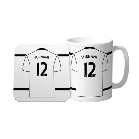 Swansea City Shirt Mug & Coaster Set - Official Merchandise Gifts