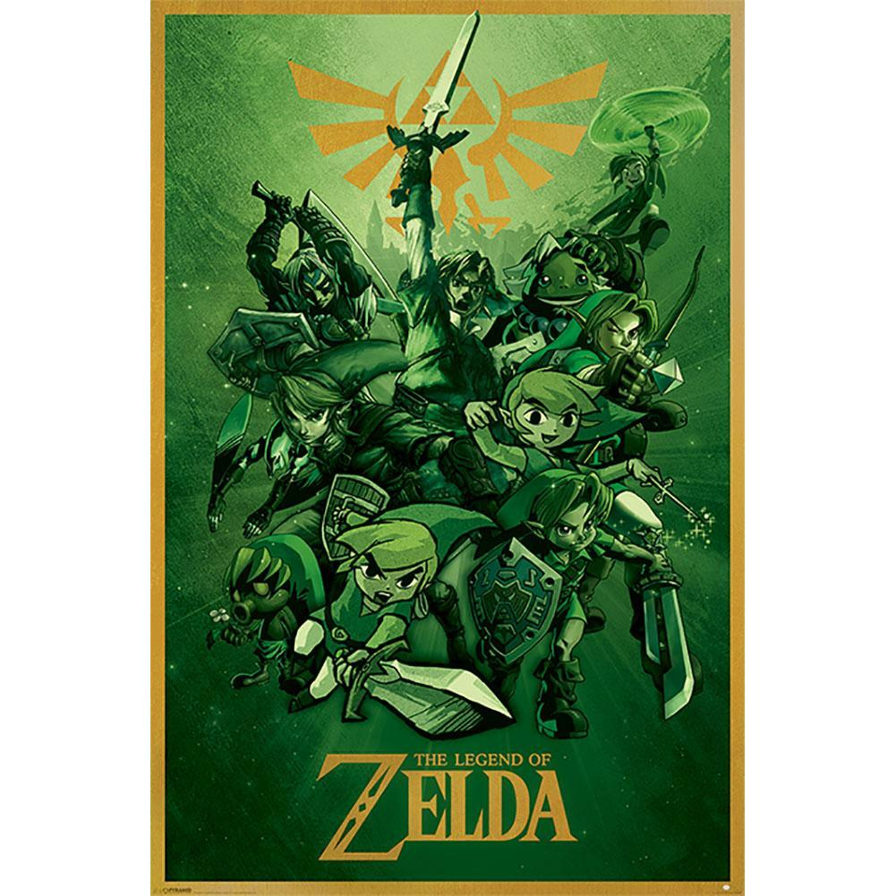 The Legend Of Zelda Poster Link 141, Home & Garden by Glamorous Gifts