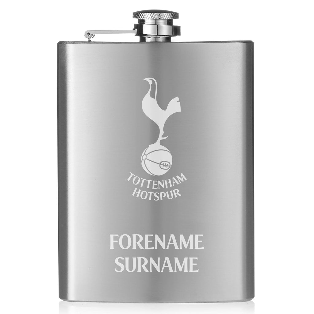 Tottenham Hotspur Crest Hip Flask - Official Merchandise Gifts